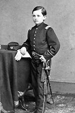 New 5x7 Photo: President Abraham Lincoln's Young Son Thomas 'Tad' in Uniform