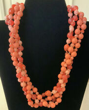 JOAN RIVERS Faux Coral 2 Strand Bead Necklace With Shortener/Connector