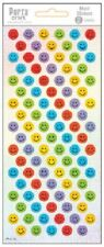 *Porta Craft * Merit Stickers Laser Holographic Smiley 2 Sheets