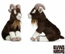 LIVING NATURE BROWN GOAT SITTING - AN408 CUTE SOFT TOY CUDDLY PLUSH FLUFFY TEDDY