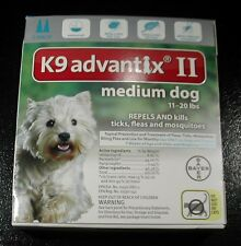 K9 ADVANTIX II for Medium Dogs 11-20 lbs 2pk (Comes W/BOX ) U.S EPA APPROVED !!!