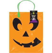 Medium Orange Spooky Halloween Trick Or Treat Party Sweet Candy Loot Pumpkin Bag