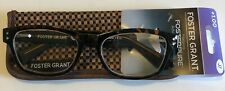 FOSTER GRANT MEN'S READING GLASSES W/ CASE - CONNOR TORTOISE  +1.00   $6.99 EA