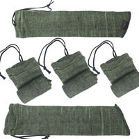 """Tourbon 5 Packs Silicone Treated Pistol Carry Sock Handgun Sleeves 15"""" Fit Ruger"""