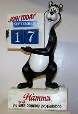 (VTG) Hamms Beer Calendar Standing Bear Figurine Statue Display sign  HTF