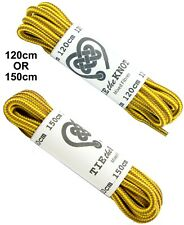 Shoe Laces For Hiking Trail or Work Boots Yellow Brown Round