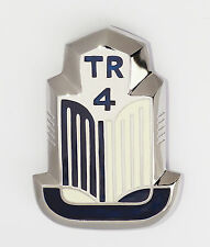 Triumph TR4 Blue & White Enamel and Chrome Shield Badge / Medallion, 705950