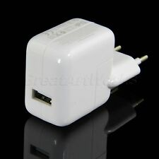 EU AC Home Wall Travel Power Charger USB Adapter For iPad 2 3 Mini iPod 10W
