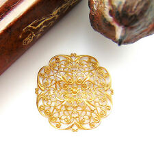 ~ Jewelry Finding (Cb-3053) Brass Embellishment Dapt Filigree Stamping