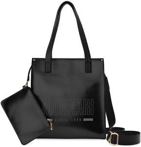 Monnari lackierte Damentasche Damen City Kosmetiktasche schwarz