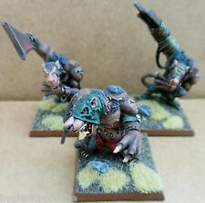 2003 Skaven RATTO OGRE CAOS ratmen Citadel PRO PAINTED WARHAMMER ESERCITO BESTIA ogor