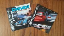 RARE Driver & Need For Speed High Stakes Sony Playstation 1 PS1 BLACK - COMPLETE