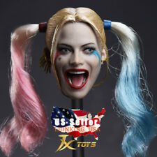 "1/6 CUSTOM Harley Quinn Suicide Squad Head Sculpt For 12"" Hot Toys Figure ❶USA❶"
