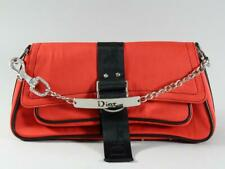 Christian Dior Red Jersey Hardcore Shoulder Bag w/ Rhinestone Chain
