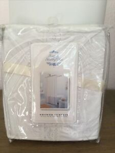 Rachel Ashwell Shabby Chic White lace SHOWER curtain RARE