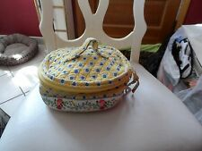 Vera Bradley Home and away round cosmetic bag in retired Elizabeth pattern