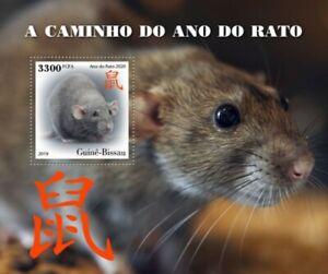 Guinea-Bissau - 2019 Year of the Rat 2020 - Stamp Souvenir Sheet - GB191002b