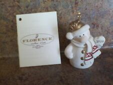 Florence Armani Frosty Collectible Ornament 1327F