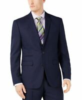 Vince Camuto Mens Blazer Navy Blue Size 38 Slim Fit Two-Button Notched $360 #290