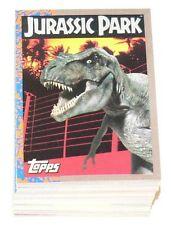 Jurassic Park Series 1 by Topps in 1993. Complete 88 card base set.