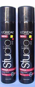 2 x L'OREAL STUDIO Line Mega Hair Spray Max Hold Ultimate Control & Finish 24 HR