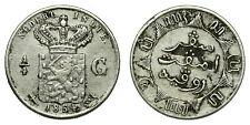 Netherlands Indies - 1/4 Gulden 1854