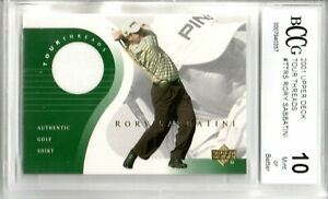 2001 UPPER DECK TOUR THREADS RORY SABBATINI AUTHENTIC GOLF SHIRT BCCG 10