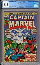 Captain Marvel #28 CGC 8.5 Avengers Thanos Black Panther Jim Starlin art
