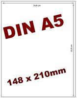 100 Etiketten DIN A5 selbstklebend weiß 210 x 148 mm
