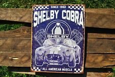 Shelby Cobra Tin Metal Sign - Carroll - Ford - AC - Since 1962 - American Muscle