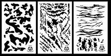 "3Pack! Vinyl Airbrush Spray Paint Camo Stencils 14"" Stripe Digi - Army - Tiger"