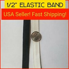 1/2 Inch Elastic ~ Crafts ~ Sewing ~ Spandex ~ 1 Yard ~ USA SELLER ~ New