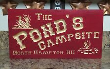 Personalized Campsite Beach House Home/Street Address Custom Carved PVC Plaque