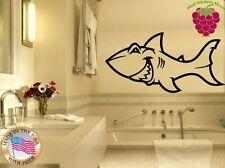 Wall Stickers Vinyl Decal Shark Funny Animal For Bathroom Marine ig789
