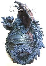 Heroic Fantasy : Grande BOITE Ronde Dragon Gothique Goth Medieval