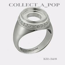 Authentic Kameleon Silver Cherish Ring With CZ Size 8 KR034#8