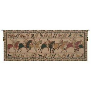 Bayeux William's Troops Belgian Tapestry Wall Hanging