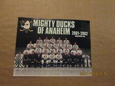 NHL Mighty Ducks Of Anaheim Vintage 2001-2002 Hockey Team Photo
