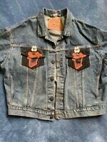 Vintage Daffy Duck Levi Denim Jacket Warner Brothers XL