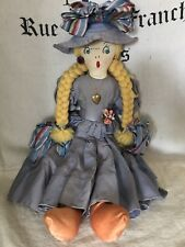 1930's Edith Flack Ackley 15 inch Handmade Cloth Doll With Original Clothes