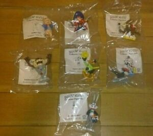 7 Vintage1990 Warner Brothers Looney Tunes Shell Oil PVC Hand Painted Figurines