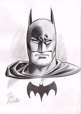 Joe Giella Signed Original DC Comics Silver Age Art Sketch ~ Batman Comic Art