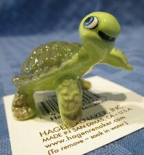 Hagen Renaker Miniature, Turtle, smiling, #02000, Made in Usa