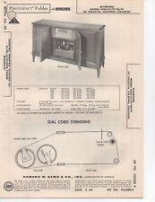 1965 SILVERTONE 4060 RADIO PHONO AMP SERVICE MANUAL PHOTOFACT 4062 4097 4098 ++