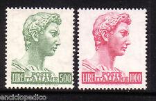 W235 ITALIA 1969-1974 San Giorgio 500 + 1000 lire Fluorescenti   MNH**