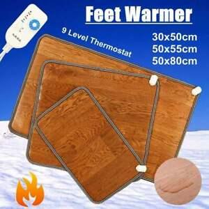 50*30cm Electric Foot Feet Warmer Heated Floor Carpet Pad Mat Office Home