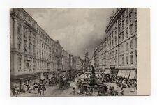 AK Wien Künstlerkarte Aus dem alten Wien Der Graben von 1918