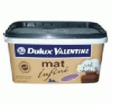 peinture dulux valentine 2,5 Litres mat infini       colori assorti