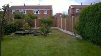 6FTX 5FT FENCE PANEL 2x8FT CONCRETE SLOTTED POSTS+GRAVEL BOARD FULLY FITTED