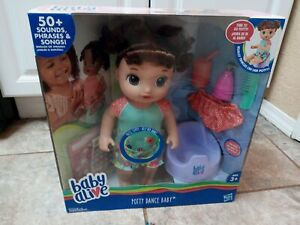 Baby Alive POTTY DANCE Doll Interactive + 50 Sounds BROWN Hair **NEW**